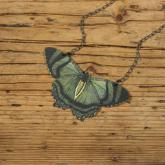 NK1065 Mountain Lake Butterfly Necklace