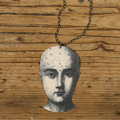 NK1096 Phrenology Necklace
