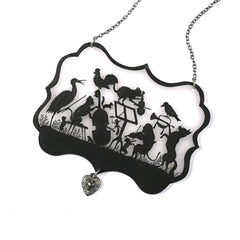 NK1061 Menagerie Orchestra Silhouette Necklace