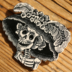 BR2080 Catrina Day of the Dead Brooch