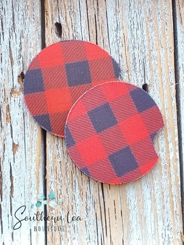 Buffalo Plaid- Car Coaster