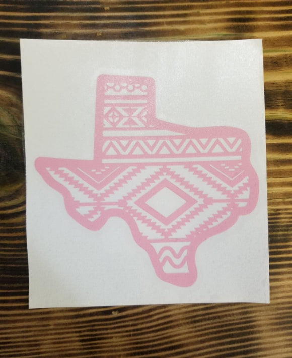 Aztec Texas Decal