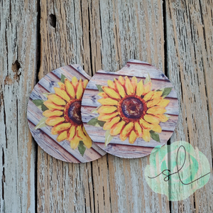Sunflower - Car Coaster