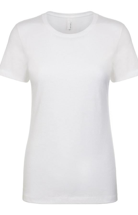 White Next Level Blank Tee