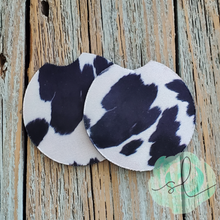 Load image into Gallery viewer, Faux Cow Print - Car Coaster
