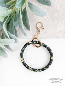 Soft & Sweet Floral Key Ring Bangle