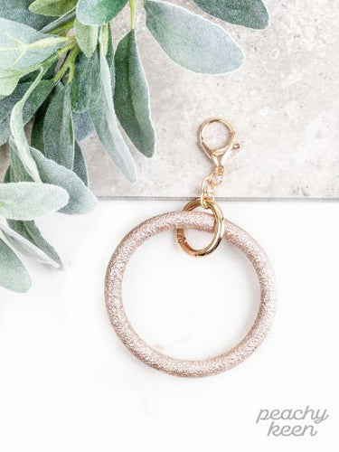 Beige Metallic Key Ring Bangle - Southern Lea