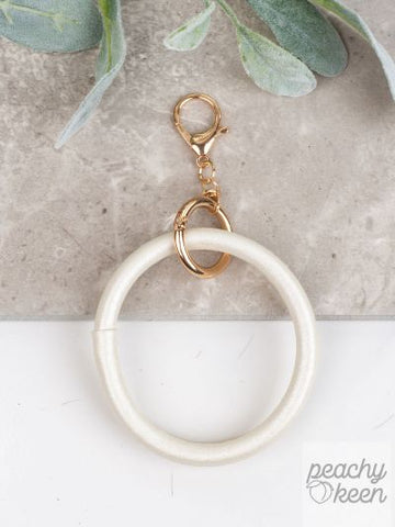 White Key Ring Bangle
