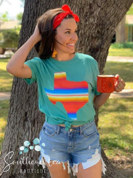 Texas Serape - Mint
