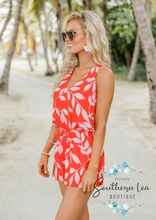 Load image into Gallery viewer, Won't Break Your Heart Romper - Red