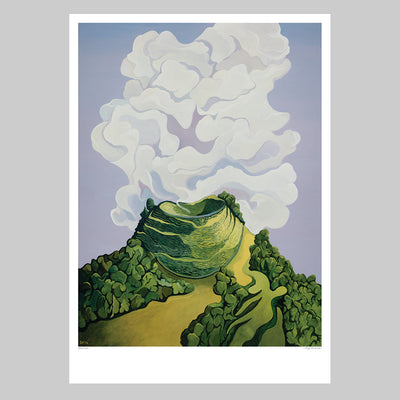 Above Eden Art Print by Guy Harkness // Mt Eden