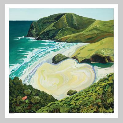 Anawhata Art Print by Guy Harkness // Anawhata Beach