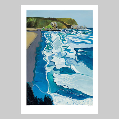 Back to Piha Art Print