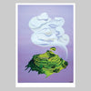 Cloud over Maungawhau Art Print