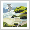 Gull over Anawhata Art Print