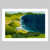 Ocean Beach From Bream Head Art Print by Guy Harkness