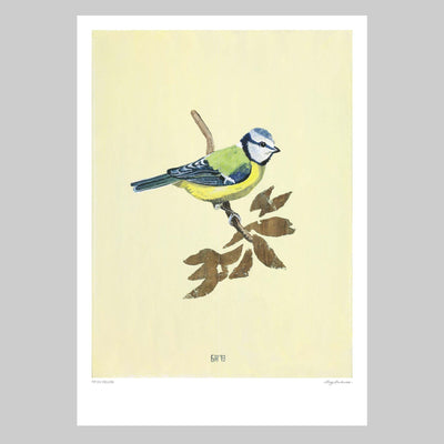 Tit on Yellow Art Print