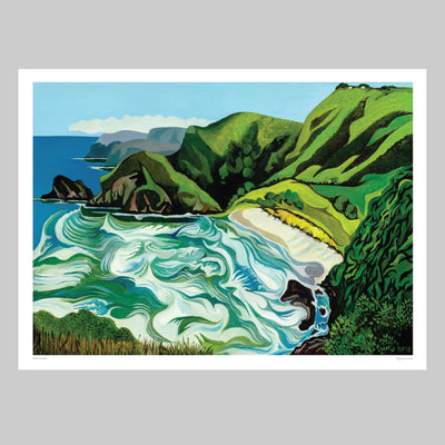 White's Beach Art Print