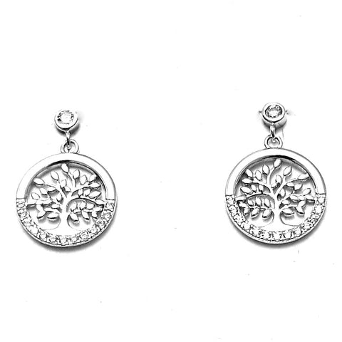 Circle Tree of life earrings