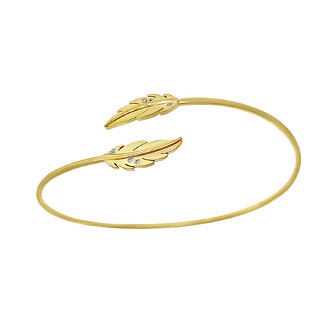 Feuille open Bangle