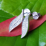 Feuille d'argent Earrings