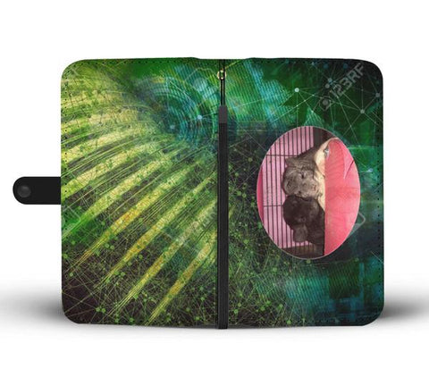Custom Photo Wallet Phone Case - Abstract Green 1