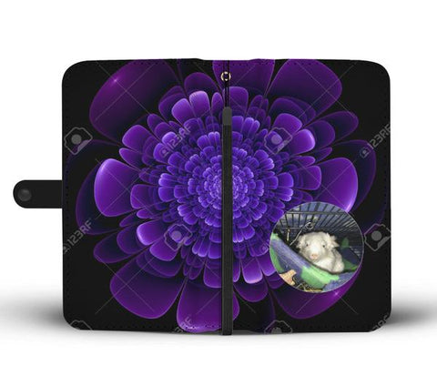 Custom Photo Wallet Phone Case - Glowing Floral 1