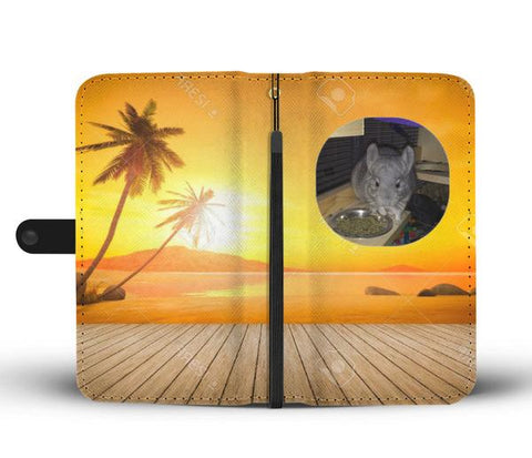Custom Photo Wallet Phone Case - Tropical Sunset 2