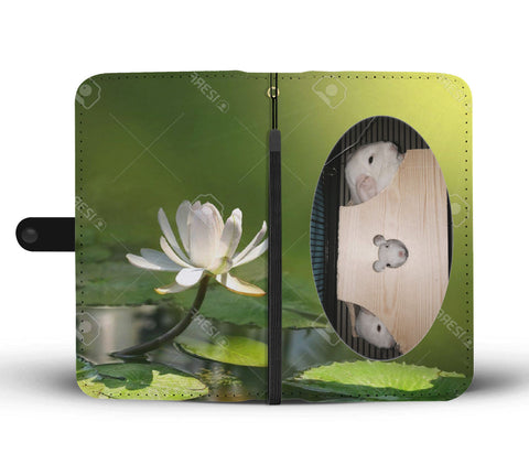 Custom Photo Wallet Phone Case - Green Water Lily