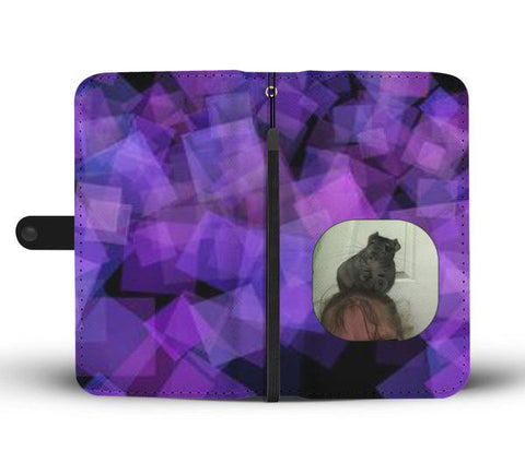 Custom Photo Wallet Phone Case - Abstract Purple 1