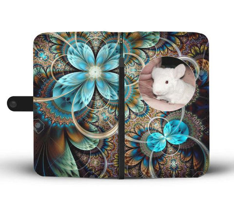 Custom Photo Wallet Phone Case - Abstract Teal 1