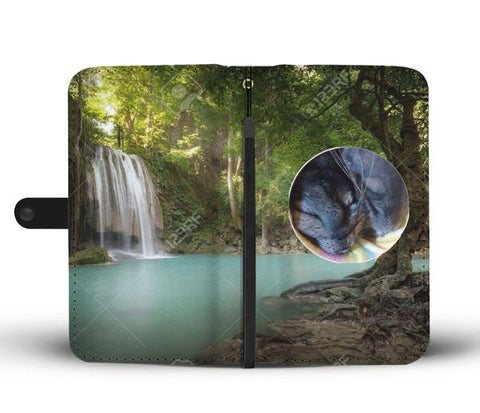 Custom Photo Wallet Phone Case - Waterfall