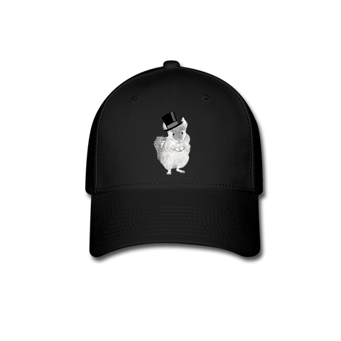 Baseball Cap - Chinchilla Top Hat - black