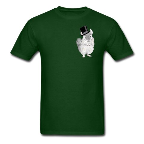 Men's T-Shirt - Chinchilla Top Hat - forest green