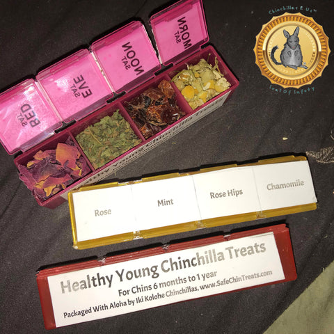 Healthy Young Chinchilla Treats Pack