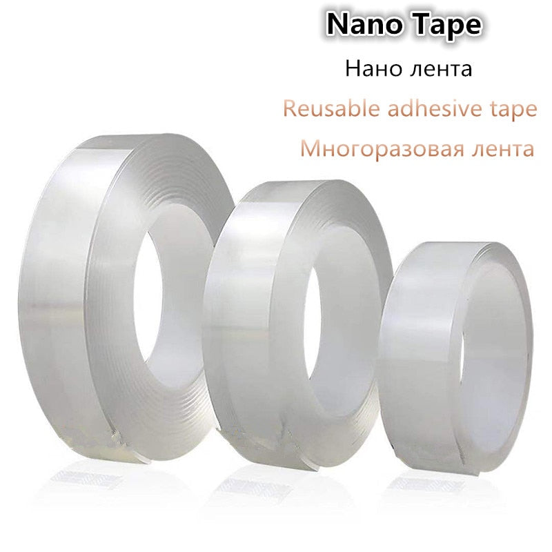 🔥🔥2019 Reusable Nano tape Transparent Double-sided Tape Can Washed Acrylic Fixing Tape No Trace Magic Car Double-sided Tape