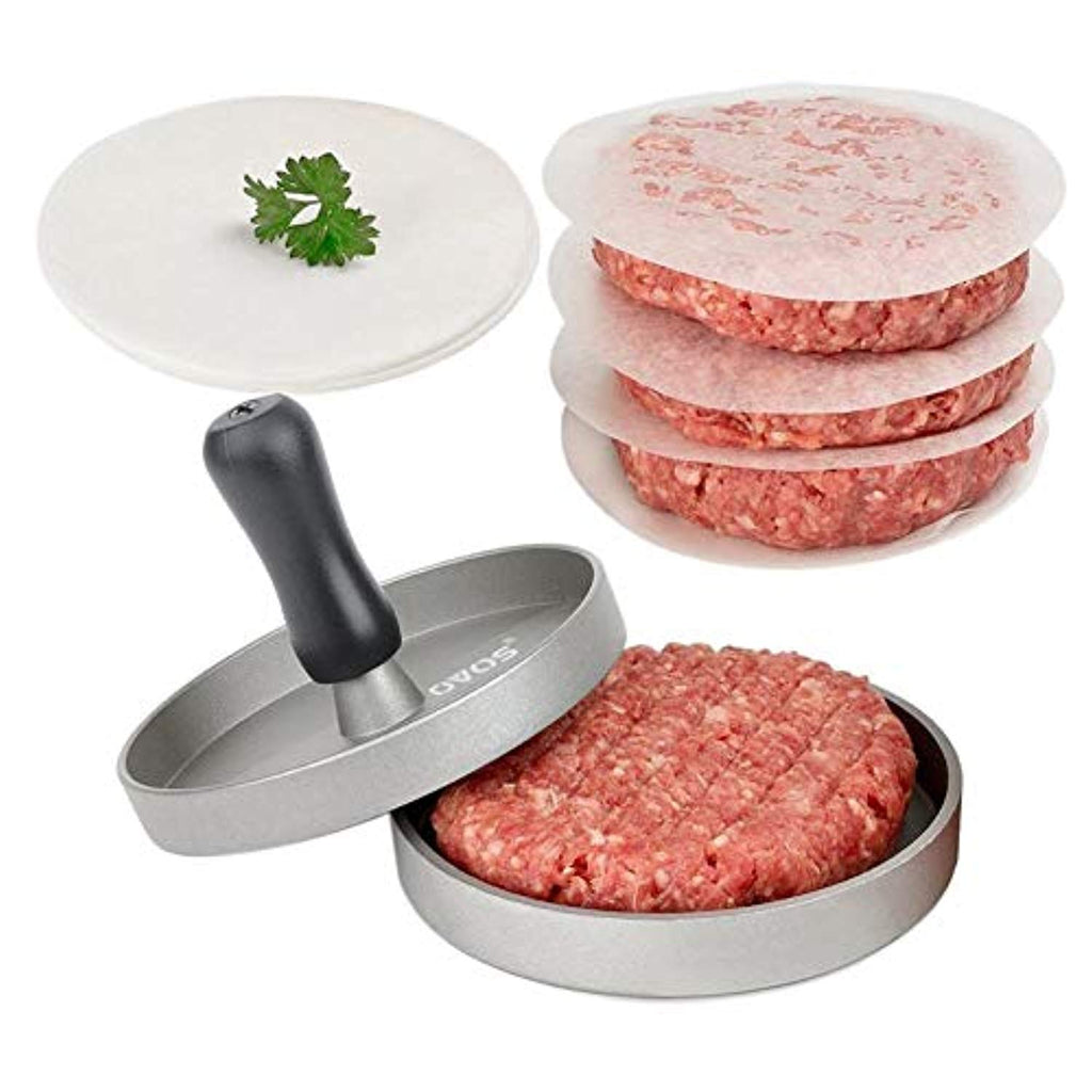 Non-Stick Round Shape Beef Hamburger Press Mold with 50 Free Patty Papers
