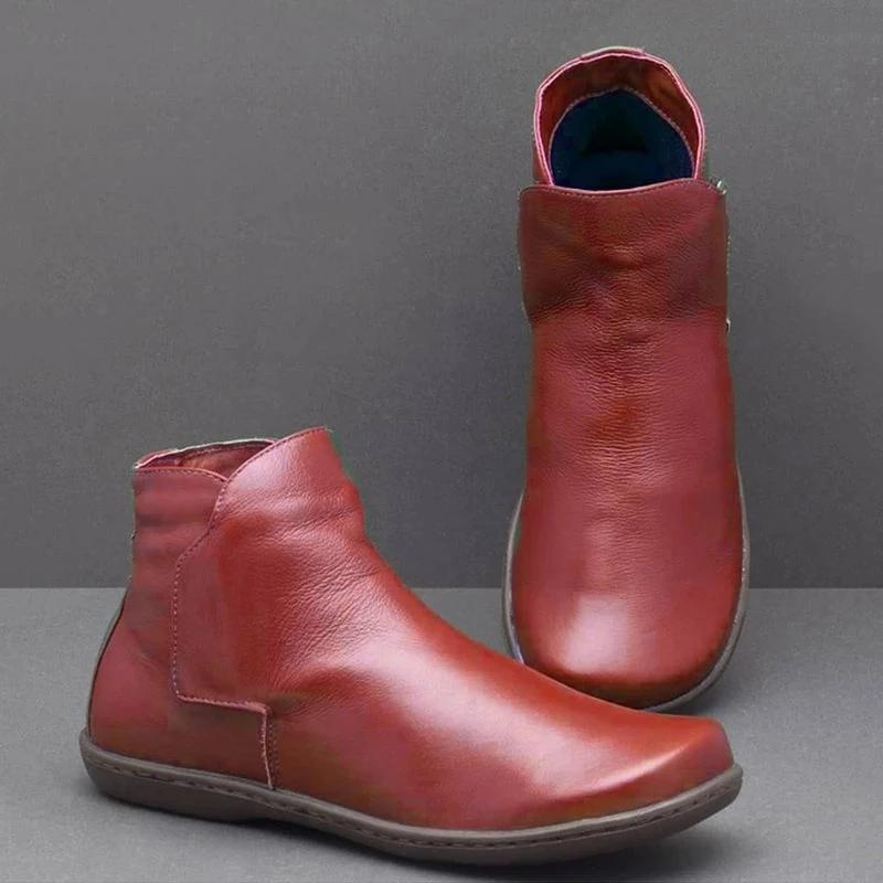 Slip On Daily Winter Flat Heel Boots