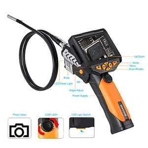 Digital Industrial Endoscope Waterproof LCD Borescope 3M with CMOS Sensor Inspection Camera 4 Zoom Options -10FT