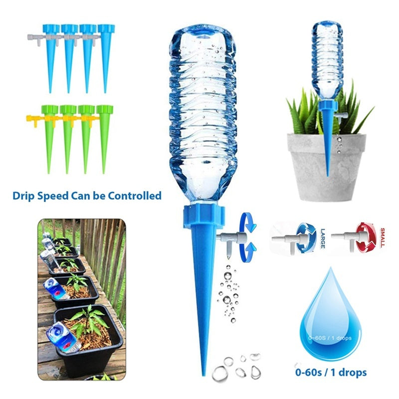 Automatic Garden Cone Watering Spike Plant Flower Waterers Bottle
