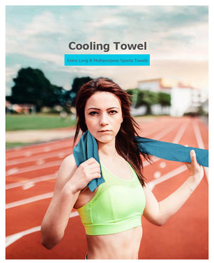5 Color A Pack Instant Cooling Towel Quick Drying Mesh Beach Fitness Gym Yoga Running Camping Absorbent Chilly Swimming Towel