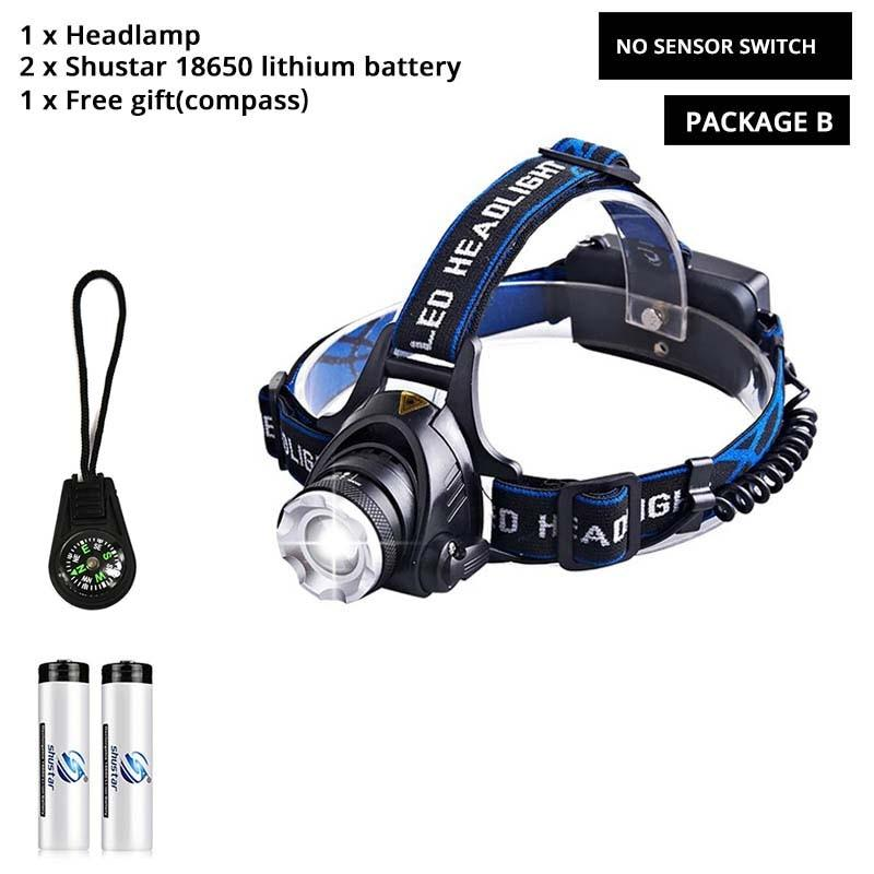 LED headlamp fishing headlight