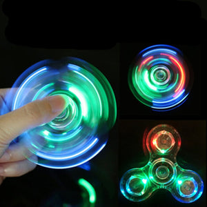 🔥🔥Luminous LED light Hand Top Spinners Glow Finger  Stress Relief Toys