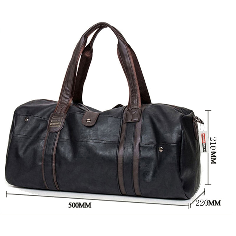 🔥65% OFF🔥 Wax Leather Handbags For Men Large-Capacity Portable Shoulder Bags
