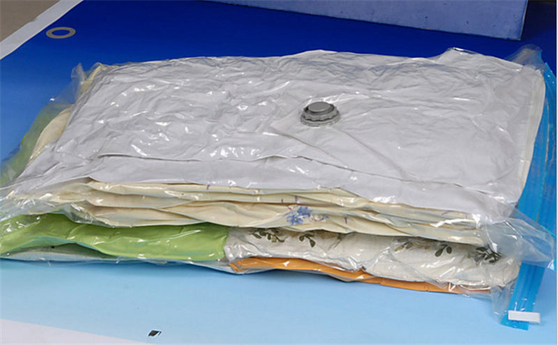 Vacuum Bag Storage Home Organizer Transparent Border Clothes Organizer Travel Saving Space Bags Package