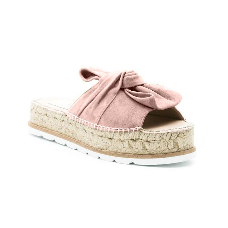 Casual Bow Espadrille Platform Sandals