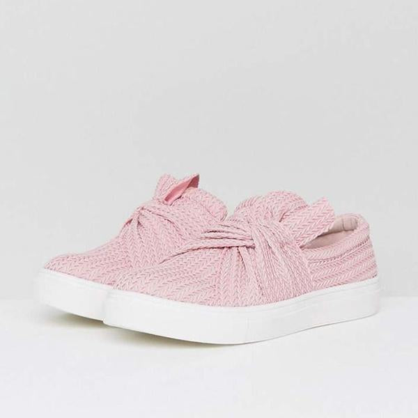 Chellymova Casual Solid Color Bow Flat Loafers sneakers