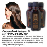 cheveux de gloire Argan Hair Oil. Nourishing Protection 100% Natural Argan Oil for Dry and Frizzy Hair