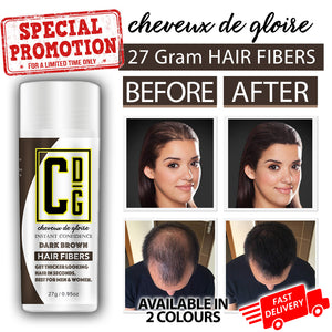 No more Bald Spots or awkward photos at weddings. cheveux de gloire hair fibers perfect for all genders