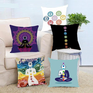 7 Chakra Pillow Case Cover